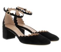 Lauren Ankle Straps Pumps Black