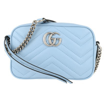 Umhängetasche Mini GG Marmont Shoulder Bag Leather Light Blue/Porcelain