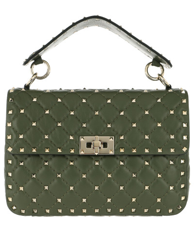 Valentino Damen Rockstud Spike Crossbody Bag Nappa Medium Oasis Tasche