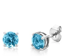 Ohrringe 14KT Blue Topaz Earring