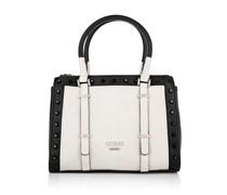 Guess Tasche - Basel Small Status Almond Multi - in weiß, schwarz - Henkeltasche für Damen