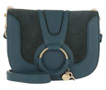Hana Umhängetasche Leather/Suede Steel Blue blau