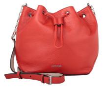Tasche - Mia Mini Drawstring Bucket Bag Leather Red