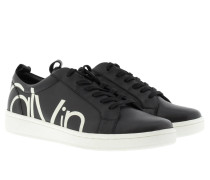 Sneakers - Danya Sneaker Cow Silk With Print Logo Black/ White
