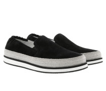 Slip On Suede Sneakers Black Schuhe