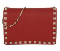 Rockstud Chain Umhängetasche Bag Rosso