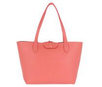 Long Handle Shopping Bag Rose/Black Tote