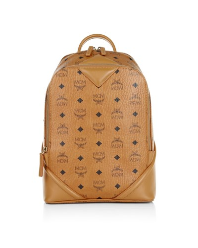 mcm damen mcm tasche duke visetos backpack small cognac in cognac umh ngetasche f r damen. Black Bedroom Furniture Sets. Home Design Ideas