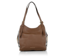 Tasche - Canterbury Small Leather Tote House Check Derby Tan