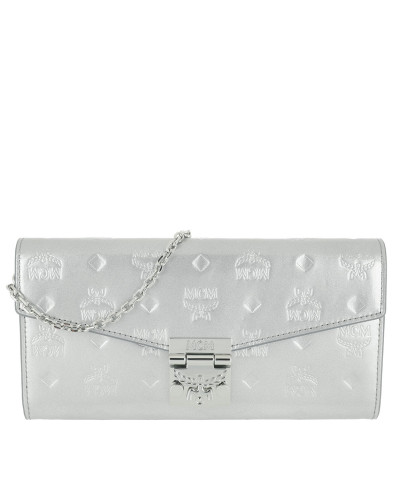Patricia Patent Flap Wallet Large Silver