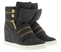Molly Wedge Sneakers Suede Grey Sneakerss grau