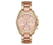 Armbanduhr - Blair Pavé Gold-Tone Watch