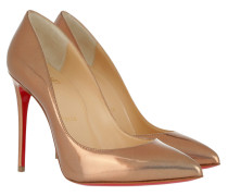 Pigalle Follies 100 Metal Patent Pumps Cappuccino