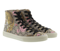GG Supreme St. Bengal Canvas High Top Sneaker Beige