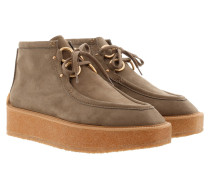 High Clipper Ankle Boots Taupe Schuhe braun