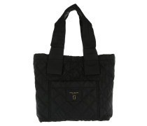 Quilted Nylon Tote Black