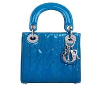 Tasche - Lady Dior Mini Patent Bleu