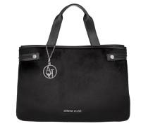 Shopping Bag PVC Pony Hair Black