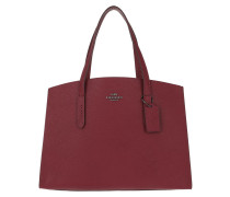 Tote Metallic Interior Charlie Carryall Bag Deep Red