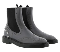 Studded Chelsea Boots Gris Plomp Schuhe