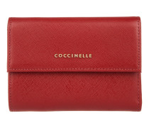 Kleinleder - Metallic Saffiano Leather Wallet Rosso