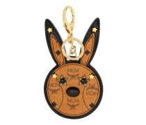 Animal Rabbit Mirror Charm Cognac Schlüsselanhänger cognac