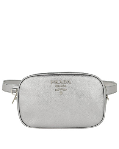 Saffiano Leather Belt Bag Cromo