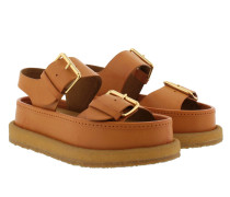 Cowper Platform Buckle Sandal Burnt Orange Sandalen