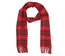 Classic Vintage Check Cashmere Scarf Red Accessoire