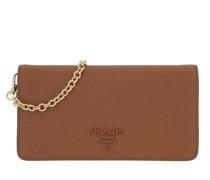 Umhängetasche Logo Mini Flap Shoulder Bag Leather Cognac