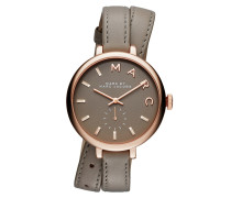 Armbanduhr - Sally Rosé Gold Leather Watch Taupe