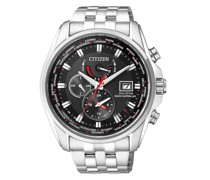 Uhr Radio Controlled Wristwatch Silver Black