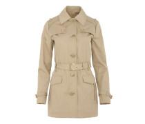 Fancy Trench Coat Khaki Mantel beige