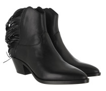 Boots Mustang Bootie Leather Black
