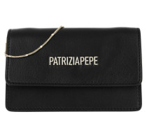 Umhängetasche Mini Shoulder Bag Piping Metallic Logo Nero