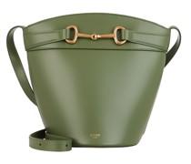 Beuteltasche Crecy Bucket Bag Leather Light Khaki