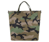 Rockstud Camouflage Tote Bag Nylon Army Green/Black braun