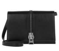 Tasche - Small Zip Front Shoulder Bag Black Anthracite