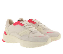 Sneakers Runner Fluo And Leather Chalk/Fluo Pink