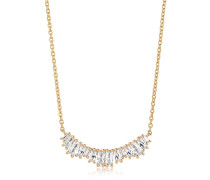 Halskette Antella Grande Necklace White Zirconia 18K Gold Plated