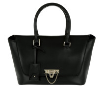 Demilune Small Double Handle Bag Black Satchel