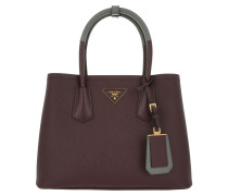 Double Shopping Bag Saffiano Cuir Granato/Marmo Tote