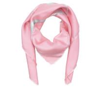 Logo Silk Scarf Turquoise / Pink Schal blau