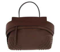 WaveBag Tumbled Small Brown Satchel