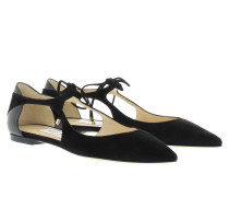 Vanessa Flat Suede Nappa Black/Black Ballerinas