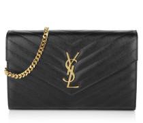 Monogramme Chain Wallet Black Portemonnaie gold