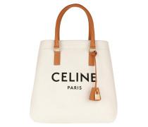 Tote Horizontal Cabas Bag Leather Natural/Tan