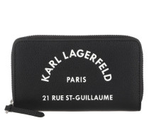 Portemonnaie Rue St Guillaume Medium Zip Wallet Black