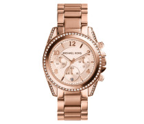 Blair Chronograph Watch Rose Gold-Tone Armbanduhr