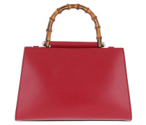 Nymphaea Small Top Handle Bag Red Satchel
